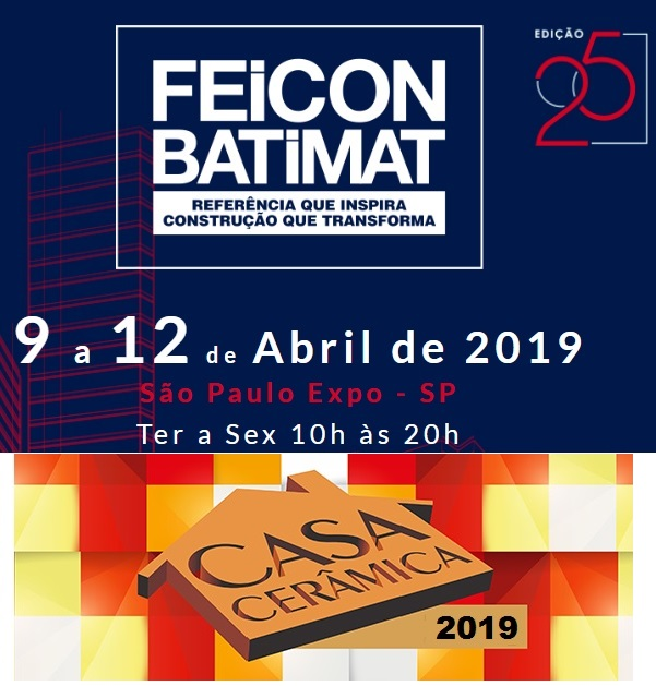 Acervir na Feicon-Batimat 2019 – Junto a Casa Cerâmica 2019.